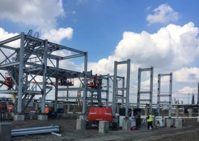 Ideal Steel's steel fabrication work for the Marathon oil refinery job in Detroit, Michigan