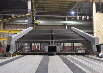 Ideal Steel's fabricated steel ornamental Winter Garden stair for Oakland University